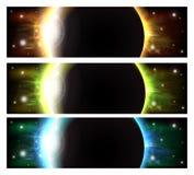 Astronautyczni sztandary Obrazy Stock