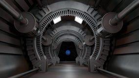 Astronautyczny środowisko, przygotowywający dla comp twój charaktery 3 d czynią royalty ilustracja
