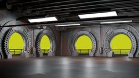Astronautyczny środowisko, przygotowywający dla comp twój charaktery 3D renderin obraz royalty free