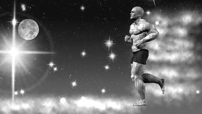 Astronautyczny biegacz świadczenia 3 d sztuka 4K Obrazy Stock