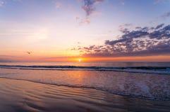 Astronautyczny Brzegowy wschód słońca fotografia royalty free