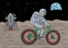 Astronautyczny fatbike Obrazy Royalty Free