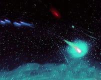 Astronautyczny galaxy tło Obrazy Stock