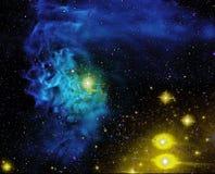 Astronautyczny galaxy tło Zdjęcia Royalty Free