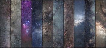 Astronautyczny kolaż Astronomia kolaż Astrofotografia kolaż Wszechświat obrazy stock