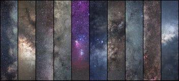 Astronautyczny kolaż Astronomia kolaż Astrofotografia kolaż Wszechświat zdjęcie stock