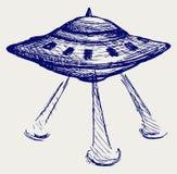 Astronautyczny latający spodeczek ilustracja wektor