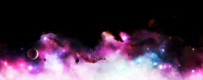 Astronautyczny mgławicy tło Obraz Royalty Free