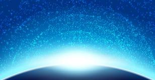 Astronautyczny nieba tło Zdjęcia Stock