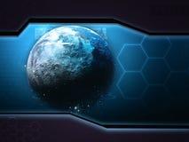 Astronautyczny planety abstrakta tło Obrazy Royalty Free
