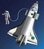 Astronautyczny spacer Obraz Royalty Free
