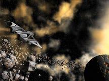Astronautyczny statek ilustracji