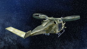 Astronautyczny statek obraz royalty free