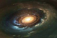 Astronautyczny tło z ślimakowatym galaxy i gwiazdami Obrazy Royalty Free