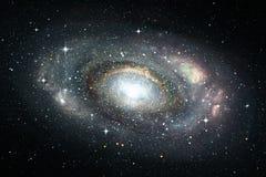 Astronautyczny tło z ślimakowatym galaxy i gwiazdami Zdjęcie Royalty Free