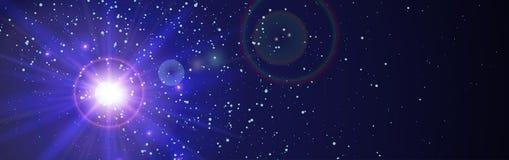 Astronautyczny tło z błękita światłem od behind ilustracji