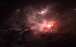 Astronautyczny tło z mgławicą i gwiazdami Obraz Royalty Free