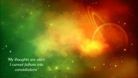 Astronautyczny tło Fotografia Stock