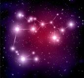 Astronautyczny tło z gwiazdami i Sagittarius constellati Royalty Ilustracja