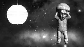 Astronautyczny tancerz świadczenia 3 d sztuka 4K Zdjęcia Royalty Free