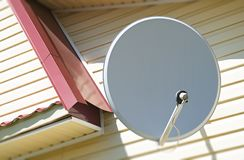 Astronautyczny telewizyjnej anteny tło obraz royalty free