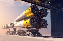 Astronautyczny transport Fotografia Stock