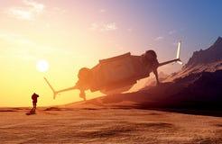 Astronautyczny transport Zdjęcie Stock