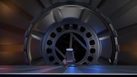 Astronautyczny tron, przygotowywający dla comp twój charaktery Zdjęcie Royalty Free
