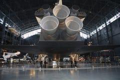 Astronautyczny Wahadłowiec tylni widok Zdjęcie Stock