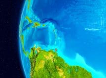 Astronautyczny widok Karaiby w czerwieni Zdjęcie Royalty Free