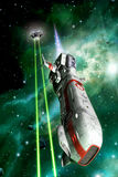 Astronautyczny wojownika dogfight Obrazy Stock