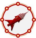 Astronave con una struttura rossa illustrazione vettoriale