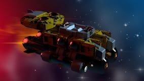 Astronave 3D illustrazione di stock