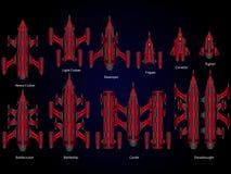 Astronave del video gioco Fotografia Stock