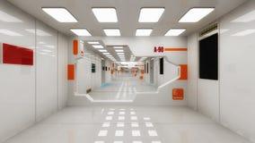 Astronave futuristica dello straniero del corridoio illustrazione di stock