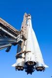Astronave su una piattaforma di lancio immagini stock