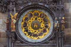 Astronimical clock of old town hall in Prague Stock Photography