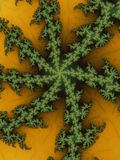 Astroniras em um verde - cores amarelas do Fractal Fotos de Stock