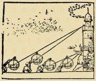 Astronomen und Architekten stock abbildung