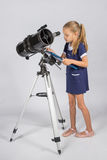 Astronomer carefully recorded observations on a sheet of paper Stock Photography
