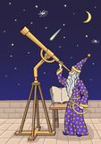 The astronomer at the telescope. Stock Photography