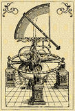 Astronomers machine, quadrant. Vector picture, ink drawing, ancient astronomers machine - quadrant, picture 1 Royalty Free Stock Photography