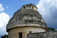 Astronomers temple. In chitchen itza Stock Photography