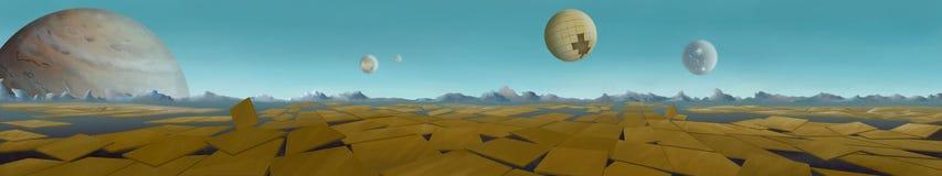 Astronomi planeter vektor illustrationer