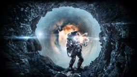 Astronomi som en vetenskap Blandat massmedia fotografering för bildbyråer
