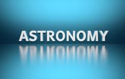 Astronomia da palavra ilustração stock