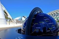 Astronomia ogród, miasto sztuki i nauki, Walencja obraz royalty free