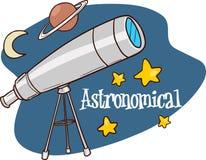 Astronomia projekta mieszkanie nauka, astrologia instrument, gwiazdowy astron royalty ilustracja