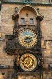 Astronomic clock 5. The famous Astronomical Clock in Old Town Square of Prague Royalty Free Stock Photography