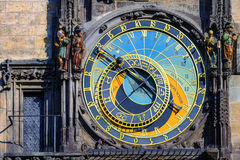 The astronomic clock Horologe in Prague, Czech Republic Stock Photos